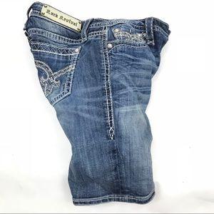 •Rock Revival Sherry Bermuda Denim Jeans Shorts